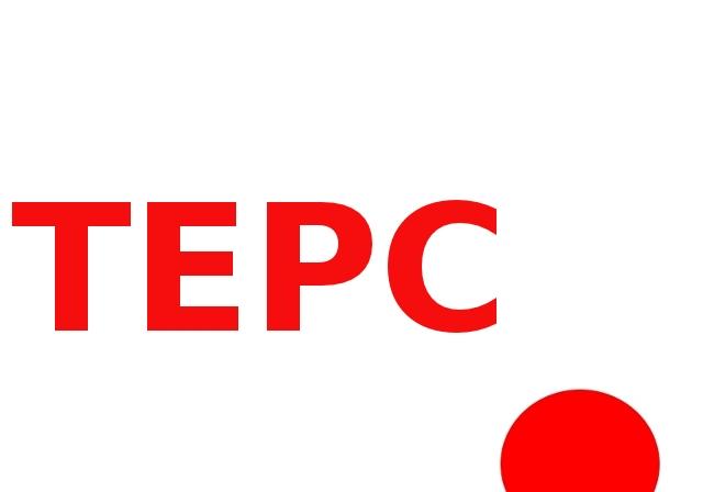 schriftzug von 'tepco' mit dem o als untergehender roter sonne